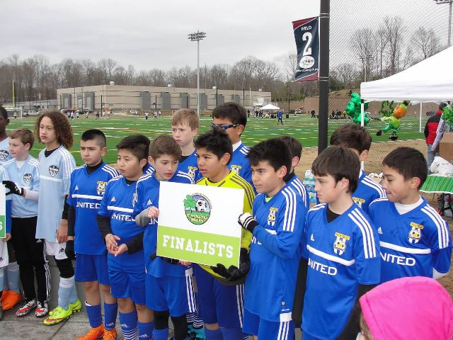 NVSC United 03B Blue Finalists at the St Patrick Day Tournament in Stafford